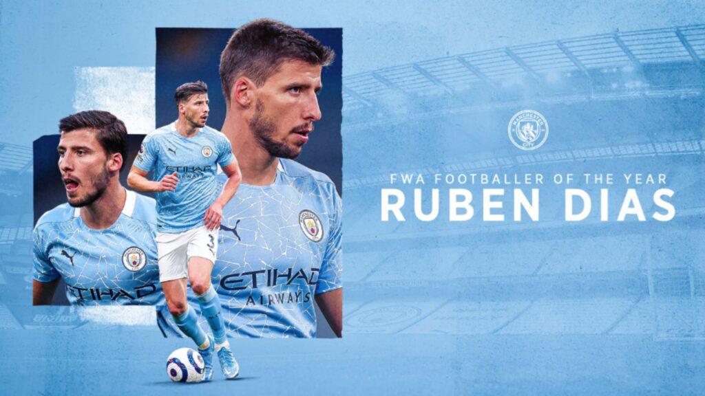Ruben Dias, Football Writer's Association - Player of the Year 2021