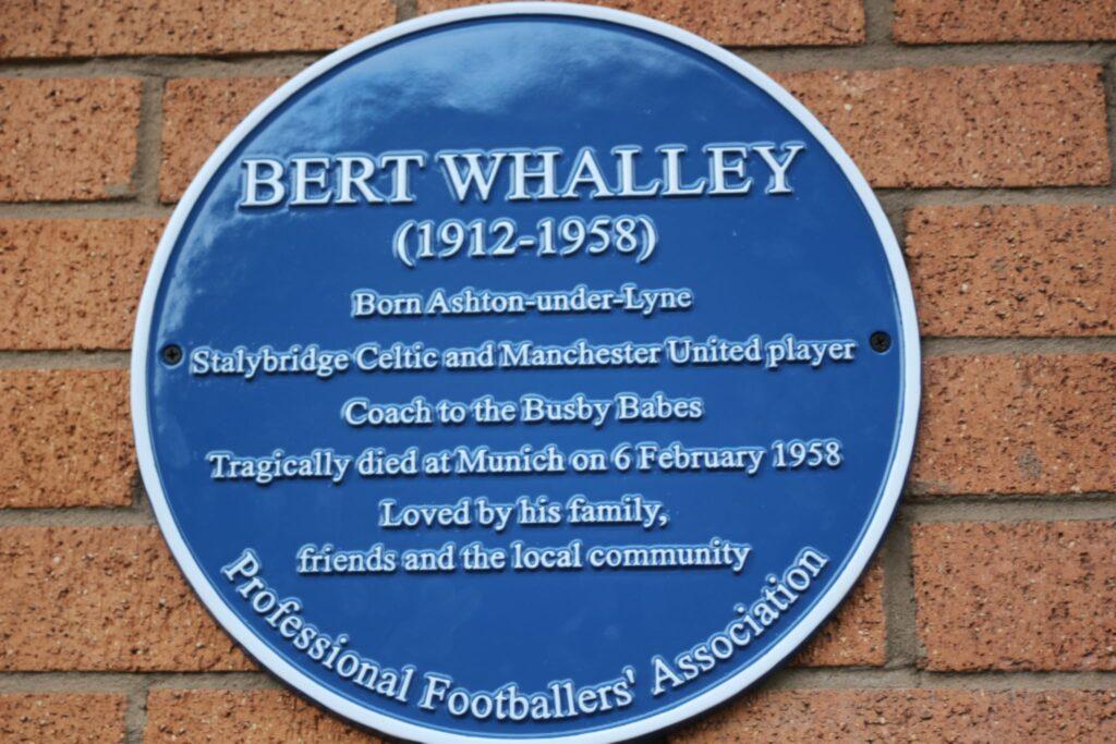 Bert Whalley Plaque