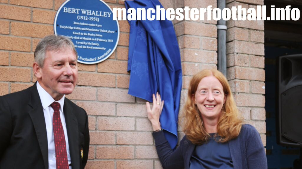 Bryan Robson and Bert Whalley's granddaughter Lindsey Vare - Wednesday July 28 2021