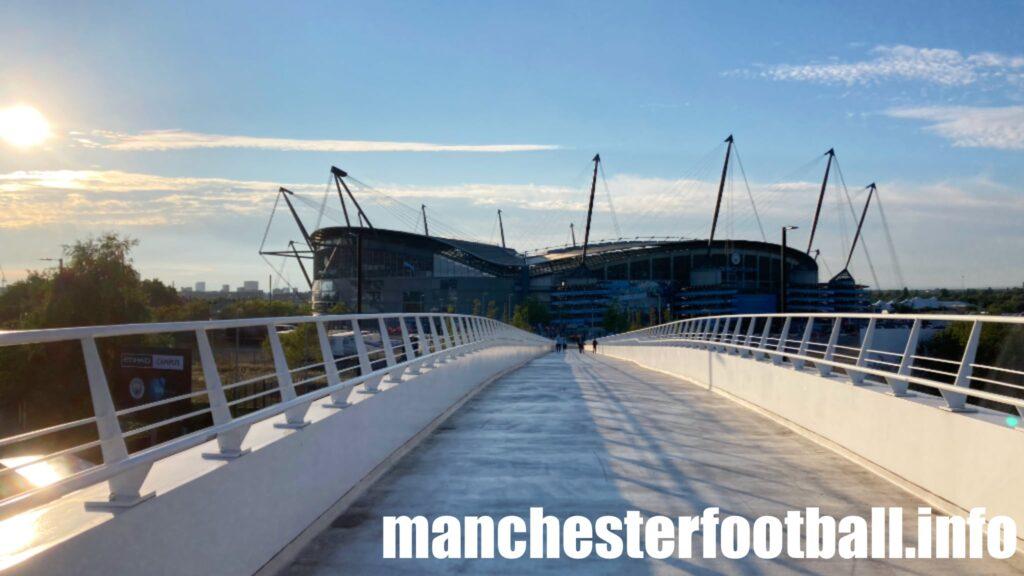 Manchester City vs RB Leipzig - Sun sets over the Etihad - Wednesday September 15 2021