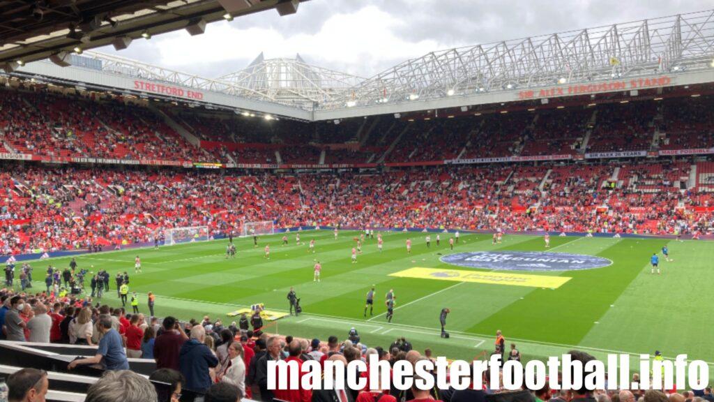 Ronaldo comes onto the Old Trafford pitch before the Man Utd vs Newcastle Utd match